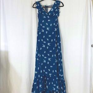 NEW Tiare Hawaii Bloom Navy Maxi Dress